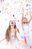 Two happy laughing girls — Stock Photo