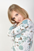 Cute blond girl posing — Stock Photo