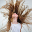 Floating hair - Foto Stock