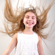 Motion long hair — Stock Photo