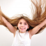 Windy hair — Stock Photo