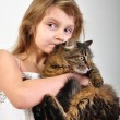 Chilld with a kitten — Stock Photo #9054267