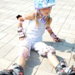 Child on in-line rollerblade skate — Stock Photo #9743293