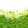 Abstract spring backgrounds with defocused bokeh and sun beams — Stock Photo