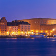 Night view of the Old Town in Stockholm, Sweden — Stock Photo