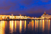 Night panorama of Helsinki, Finland — Stock Photo