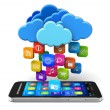 Cloud computing and mobility concept — Stock Photo