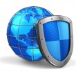 Stock Photo: Global and internet security concept