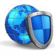 Royalty-Free Stock Photo: Global and internet security concept