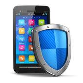 Segurança móvel e o conceito de proteção antivírus — Foto Stock