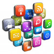 Software concept: cloud of program icons — Stock Photo #10545572