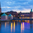 Scenic evening panorama of Stockholm, Sweden — Foto de Stock