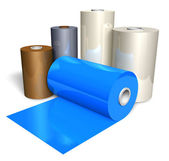 Rolls of color plastic tape — Stock Photo