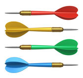 Set of color darts — Stockfoto