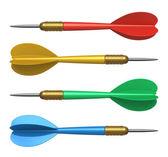 Uppsättning färg dart — Stockfoto