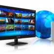 Internet television concept — Stock Photo