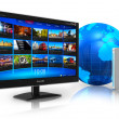 Stock Photo: Internet television concept