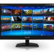 Widescreen TV with streaming video gallery — Stock Photo