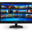 Widescreen TV with streaming video gallery — Photo