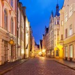 Stock Photo: Evening street in the Old Town in Tallinn, Estonia