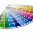 Pantone color palette guide - Stock Photo