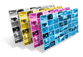 CMYK printing concept — Stock Photo