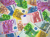 Heap of Euro banknotes — Stock Photo
