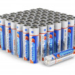 Set of AA size batteries - Stock Photo