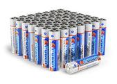 Set of AA size batteries — Stock Photo