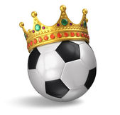 Soccer ball with crown — Stock Photo