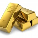 Золотые слитки — Стоковое фото