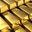 Stacks of gold bars — 图库照片