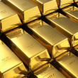 Stacks of gold bars — Stock Photo #8595716