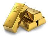 Zlaté cihly — Stock fotografie