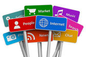интернет и социальные медиа концепция — Стоковое фото
