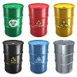 Stock Photo: Set of metal barrels