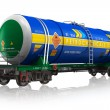 Gasoline railroad tank car — Stock Photo