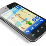 Smartphone with GPS navigation — Stock Photo #8731993