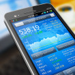 Stock market application on smartphone — Stock Photo #8833764