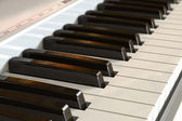 Piano keyboard with selective focus effect — Stock Photo