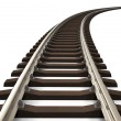Curved railroad track — Stock Photo #9089261