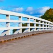 Wooden bridge in Finland — Stockfoto