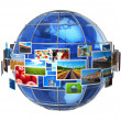 Telecommunication and media technologies concept - Foto Stock