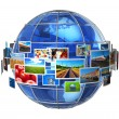 Telecommunication and media technologies concept — Stockfoto