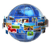 Telecommunication and media technologies concept — Stock Photo
