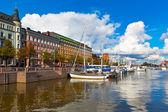 Oude haven in helsinki, finland — Stockfoto
