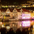 Night scenery of Bergen, Norway — Stock Photo #9476248