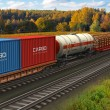 Freight train — Stock Photo #9476257