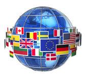 Concept de communication internationale — Photo