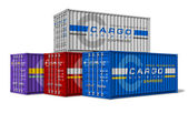 Group of cargo containers — Stock Photo